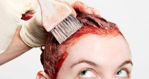 How to remove hair dye from skin around hairline?